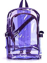 baratos -Mulheres Bolsas PVC mochila Ziper Preto / Laranja / Roxo / Bolsas transparentes / Sacos de geléia a laser