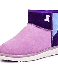 cheap -Women's Shoes Suede Winter Snow Boots Comfort Boots Flat Heel Booties / Ankle Boots for Casual Coffee Red Pink