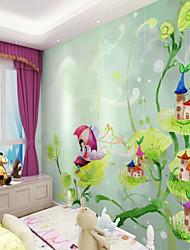 baratos -Mural Tela de pintura Revestimento de paredes - adesivo necessário Floral Art Deco 3D