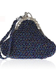 cheap -Women's Bags Evening Bag Beading / Crystals for Wedding / Event / Party Gray / Purple / Army Green