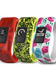 baratos -GARMIN® vivofit JR Relógio inteligente Android 4.3 Cronógrafo Impermeável N / D Silicone Amarelo Vermelho Rosa claro