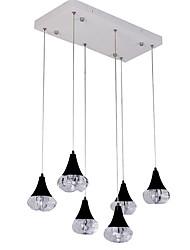 abordables -QIHengZhaoMing LED Lampe suspendue Lumière d'ambiance - Protection des Yeux, 110-120V 220-240V, Blanc Crème, Source lumineuse de LED