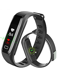 abordables -G15 Bracelet à puce iOS Android Ecran Tactile Calories brulées Pédomètres Suivi de distance Mesure de la pression sanguine Accéléromètre