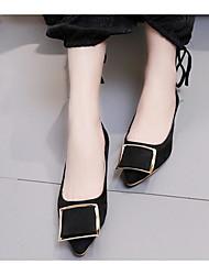 povoljno -Žene Cipele Nubuk koža Proljeće Jesen Udobne cipele Ravne cipele Ravna potpetica za Kauzalni Crn Zelen