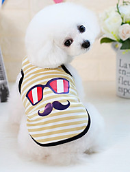 cheap -Dogs Cats Furry Small Pets Pets Vest Dog Clothes Striped Cartoon Yellow Blue Pink Cotton / Polyester Costume For Pets Male Japan and