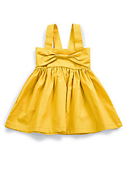 cheap -baby girl's daily solid colored dress, polyester summer cute sleeveless yellow 70 80 100 90