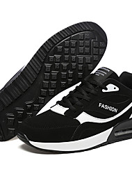 cheap -Unisex Light Soles Faux Leather Spring / Summer Sneakers Running Shoes / Walking Shoes Color Block Black / White / Black / Red