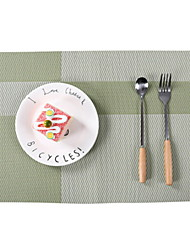 cheap -Contemporary Casual Plastic Square Placemat Striped Table Decorations