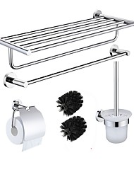 cheap -Sealant Fix Bathroom Accessory Set High Quality 304# Stainless Steel 4pcs - Bathroom Rack Toilet Brush Holder tower bar Toilet Paper Holders LS-4