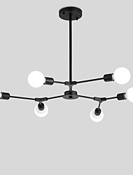 cheap -Northern Europe Chandelier 6-Head Modern Metal Molecules Pendant Lights Living Room Dining Room Bedroom Painted Finish