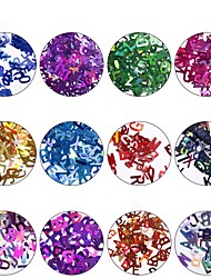povoljno -12pcs Nail Glitter Šljokice glitters Mixed Color Nail Art Design