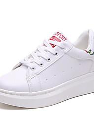 povoljno -Žene Cipele Sintetika, mikrofibra, PU Proljeće Jesen Udobne cipele Sneakers Niska potpetica za Kauzalni Vanjski Crn Crvena