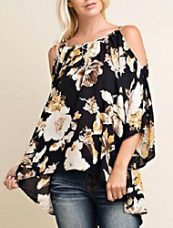 cheap -Women's Street chic Loose Blouse - Floral / Floral Patterns