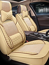 cheap -ODEER Headrest & Waist Cushion Kits Beige Textile PU Leather Common for universal All years All Models
