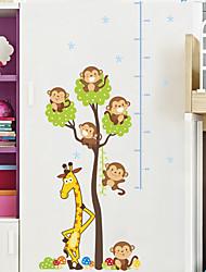 Недорогие -Декоративные наклейки на стены Линейка роста - Простые наклейки Животные Гостиная Спальня Ванная комната Кухня Столовая Кабинет / Офис