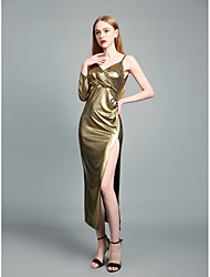 cheap -Women's Sophisticated Street chic Bodycon Sheath Swing Dress - Solid Colored, Cut Out Split