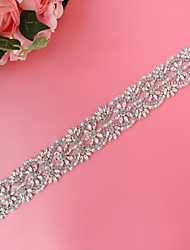 cheap -Metalic Wedding Special Occasion Sash With Imitation Pearl Crystals / Rhinestones Women's Sashes