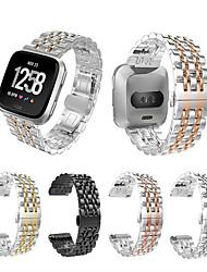 Недорогие -Ремешок для часов для Fitbit Versa Fitbit Бабочка Пряжка Нержавеющая сталь Повязка на запястье