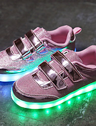 cheap -Boys' / Girls' Shoes Net / Tulle Summer Light Soles / Light Up Shoes Sneakers LED for Gold / Silver / Pink