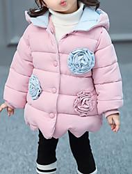 Недорогие -Девочки На пуховой / хлопковой подкладке День рождения Повседневные Полиэстер Контрастных цветов Особый дизайн Длинный рукав