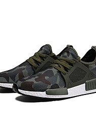 cheap -Men's Shoes Satin Summer Fall Light Soles Comfort Sneakers Running Shoes for Athletic Casual Dark Grey Army Green