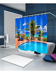abordables -Rideaux de douche et anneaux Moderne Polyester Moderne Nouveauté Fabrication à la machine Imperméable Salle de Bain