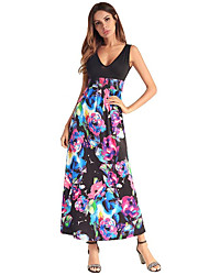 cheap -Women's Cute Sophisticated Sheath Dress - Solid Colored Floral, Print