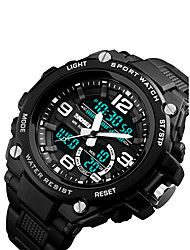 cheap -Men's Digital Sport Watch Japanese Calendar / date / day / Chronograph / Water Resistant / Water Proof / Cool / Noctilucent / Stopwatch PU