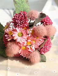 baratos -Flores artificiais 11 Ramo Rústico / Casamento Hortênsia / Plantas / Crisântemo Flor de Mesa