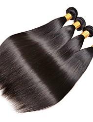 cheap -Peruvian Hair Straight Natural Color Hair Weaves / Human Hair Extensions 4 Bundles Human Hair Weaves Extention / Hot Sale Natural Black Human Hair Extensions All