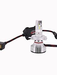 abordables -2pcs H4 Automatique Ampoules électriques 100W LED Intégrée 10000lm 4 LED Lampe Frontale For Universel Tous les modèles