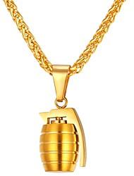 Недорогие -Кулоны - Нержавеющая сталь Дамы, Мода Золотой, Серебряный Ожерелье Бижутерия Назначение Повседневные