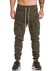abordables -Homme Militaire Coton Mince Joggings Pantalon - Imprimé, camouflage / Sports
