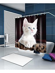 abordables -Rideaux de douche et anneaux Moderne Polyester Animal Nouveauté Fabrication à la machine Imperméable Salle de Bain