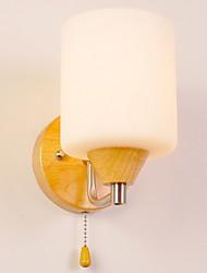 abordables -Antireflet Moderne / Contemporain Éclairage Bois / Bambou Applique murale 220-240V 40W