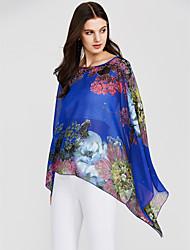 preiswerte -Damen Blumen-Street Schick Bluse überdimensional Druck Fledermaus Ärmel