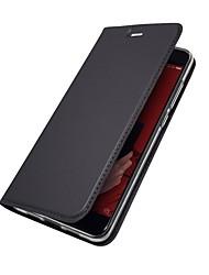 abordables -Coque Pour Xiaomi Mi 6 Mi 5X Porte Carte Avec Support Clapet Magnétique Coque Intégrale Couleur Pleine Dur faux cuir pour Redmi Note 5A
