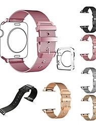 abordables -Bracelet de Montre  pour Apple Watch Series 3 / 2 / 1 Apple Bracelet Milanais Acier Inoxydable Sangle de Poignet