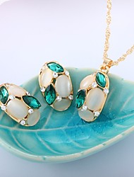 cheap -Women's Crystal Jewelry Set - Opal Sweet, Fashion Include Rose Red / Green For Wedding / Evening Party