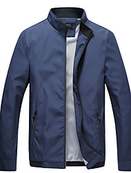 cheap -Men's Vintage Basic Jacket-Solid Colored