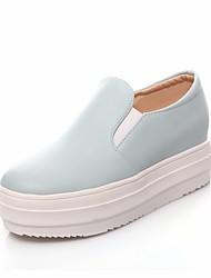 abordables -Femme Chaussures Polyuréthane Printemps Confort Mocassins et Chaussons+D6148 Creepers Bout rond pour Blanc Bleu Rose