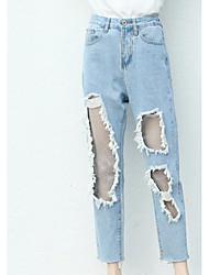 economico -Per donna Essenziale Jeans Pantaloni - Tinta unita