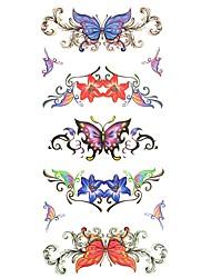 abordables -Waterproof / Pegatina tatuaje Cuerpo / brazo / hombro Los tatuajes temporales 1 pcs Series de Animal Artes de cuerpo