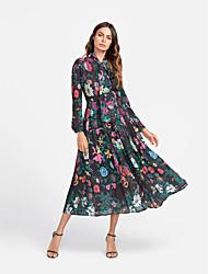 baratos -Mulheres Boho Chifon Vestido Floral Médio