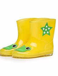 baratos -Para Meninos / Para Meninas Sapatos Pele PVC Outono / Inverno Botas de Chuva Botas para Vermelho / Verde / Azul