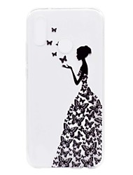 cheap -Case For Huawei P20 lite P8 Lite (2017) Transparent Pattern Back Cover Sexy Lady Soft TPU for Huawei P20 lite Huawei P20 Pro Huawei P20