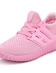 cheap -Women's Shoes Knit / Tulle / Fabric Summer / Fall Comfort Athletic Shoes Running Shoes / Walking Shoes Flat Heel Black / Red / Pink