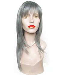 Недорогие -Парики из искусственных волос Прямой Стрижка боб / Стрижка каскад Искусственные волосы Природные волосы Серый Парик Жен. Длинные Парик из