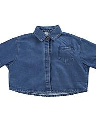 preiswerte -Kinder Mädchen Solide Langarm Bluse