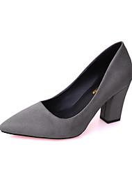 abordables -Femme Chaussures Polyuréthane Eté Confort Ballerines Marche Talon Bottier Bout rond pour Gris / Vert / Rose